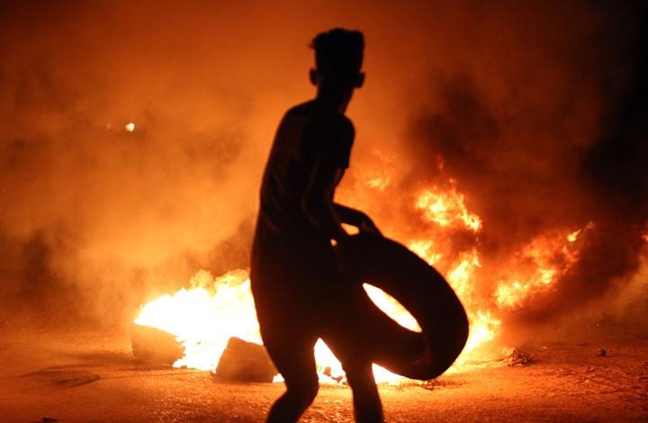 تظاهرات البصرة مظاهرات البصرة فتى يحرك اطار