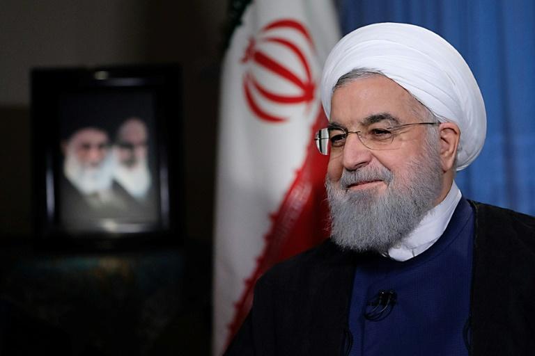 صورة نشرتها الرئاسة الايرانية للرئيس حسن روحاني في طهران في 6 آب/اغسطس 2018